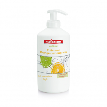 PEDIBAEHR - Wellness Fußcreme Orange-Lemongrass 500 ml